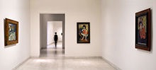 Museo Picasso Paris.Dismantling Of The Exhibition Picasso Discovers Paris With The